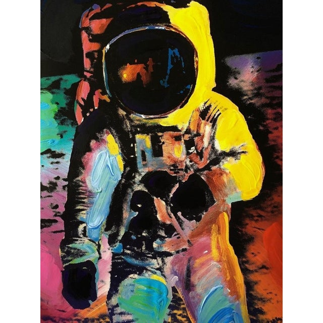 Artist: Peter Max (1937) Title: Moonwalk Year: 2009 Medium: Lithograph and acrylic on Arches paper Size: 36 x 24 inches...