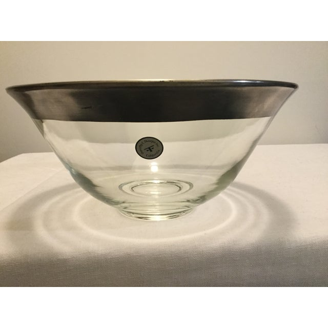 1970s 1970s Dorothy Thorpe Crystal Serving Bowl For Sale - Image 5 of 7