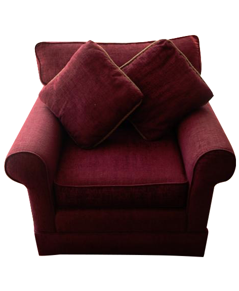Norwalk Furniture Maroon Overstuffed Chair