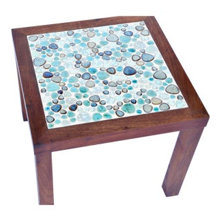 Mid Century Tile Top Side Table by Martz For Sale