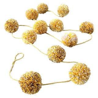 Pom-Pom Holiday Garland - Butterscotch Candy For Sale