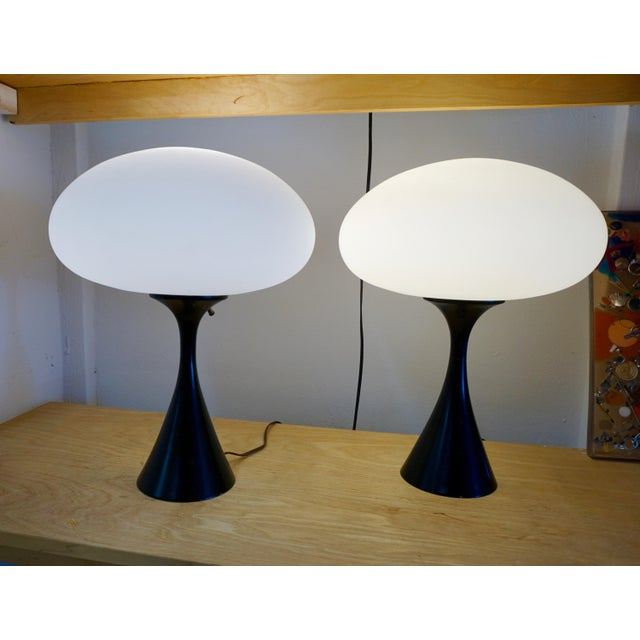"Laurel ""Mushroom"" Table Lamps - a Pair For Sale In Palm Springs - Image 6 of 6"
