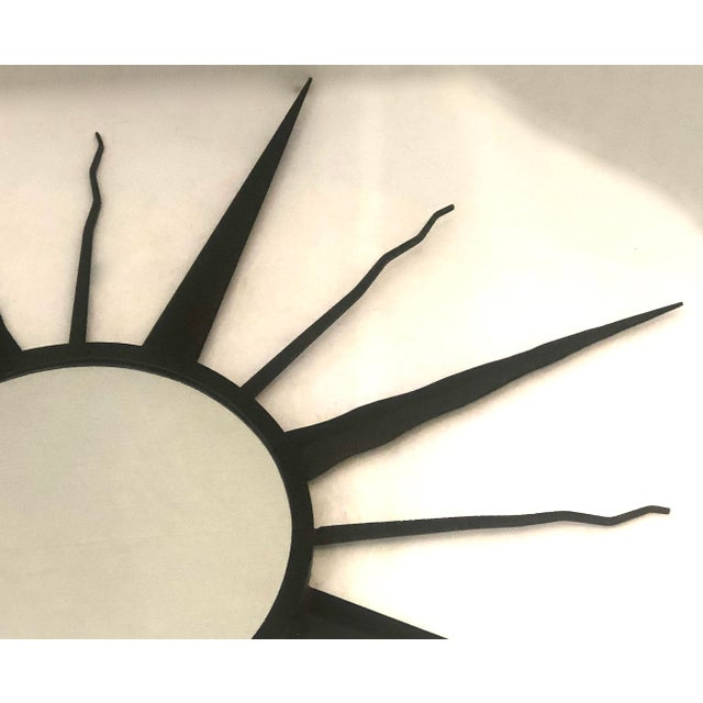 1960s C.1960 French Chaty, Vallauris Rare Black Sunburst Mirror For Sale - Image 5 of 12