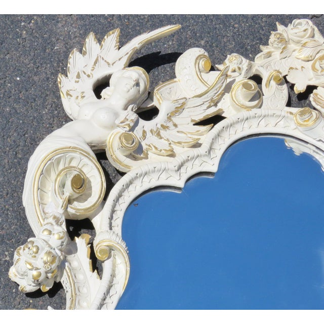 Cream & Gilt Carved Italian Mirror - Image 8 of 8
