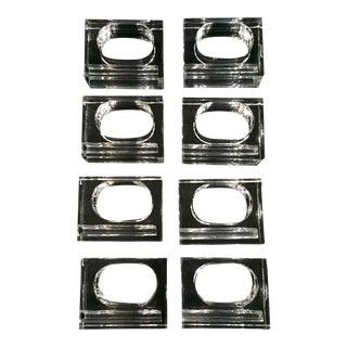 Modern Lucite Napkin Rings - Set of 8