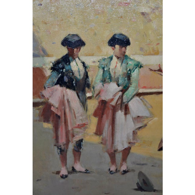 Impressionism Joan Giralt-Lerin (Spain, 20th C.) Toreador Oil Painting C.1950 For Sale - Image 3 of 10