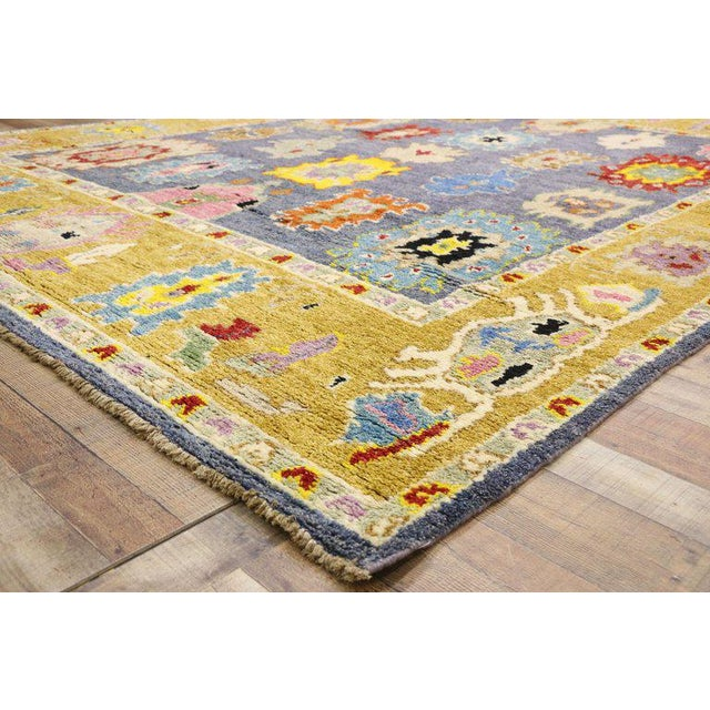 Boho Chic Contemporary Oushak Inspired Area Rug - 9′3″ × 12′5″ For Sale - Image 3 of 9