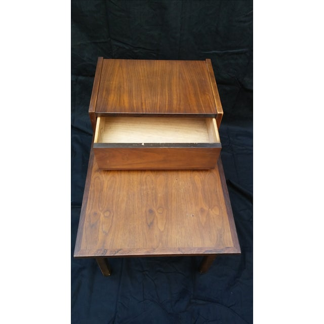 Stanley Mid-Century Modern Tiered Side Table - Image 6 of 8