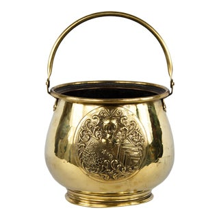 Late 18th Century French Brass Cache Pot For Sale