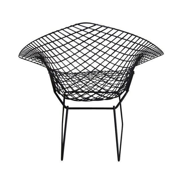 Mid-Century Modern Vintage Black Knoll Bertoia Diamond Lounge Chair For Sale - Image 3 of 4