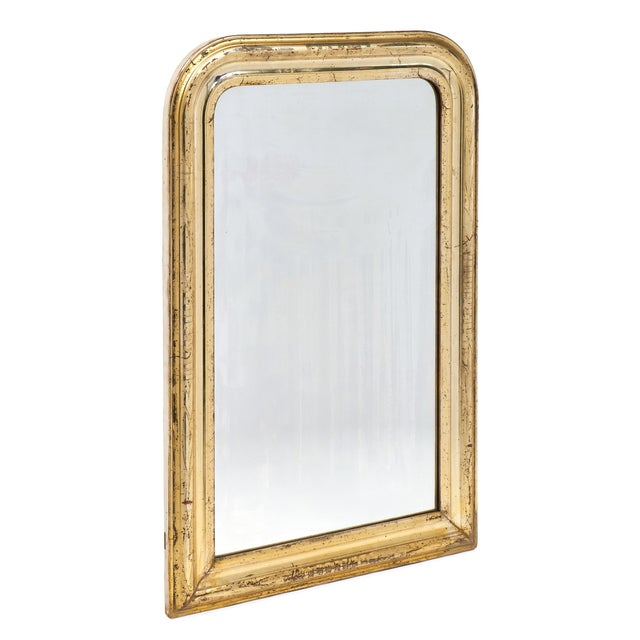 French 19th Century Antique French Gold Leaf Mirror For Sale - Image 3 of 10