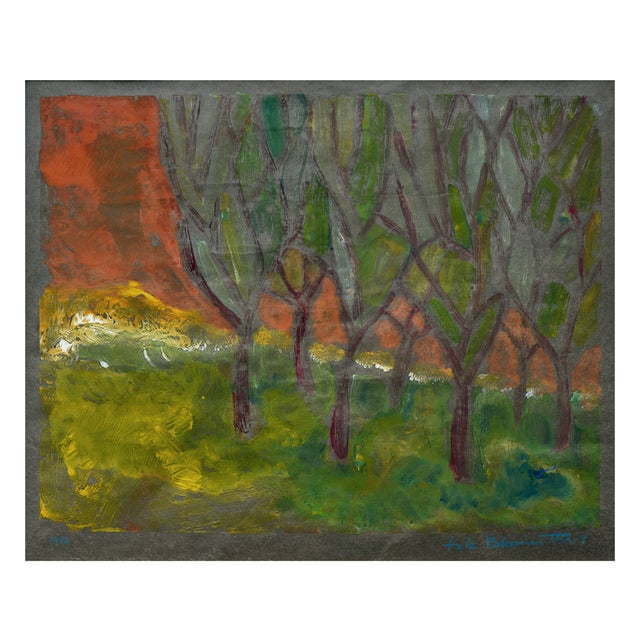 Mid-Century Modern Fritz Blumenthal Edge of the Forest For Sale - Image 3 of 7