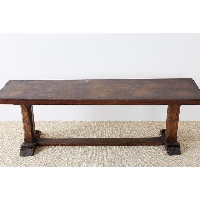 Baroque Rustic Italian Baroque Refectory Trestle Table For Sale - Image 3 of 13