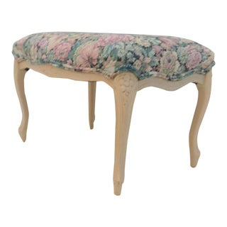 French Style Tapestery Footstool For Sale