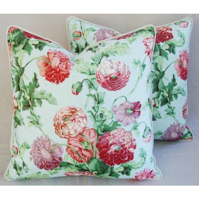 Designer Brunschwig & Fils Poppies Pillows - Pair - Image 3 of 9