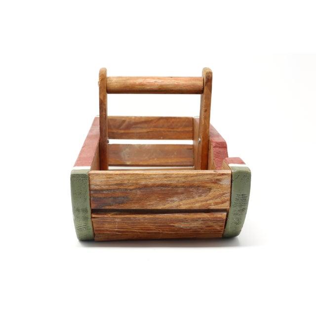 1980s Vintage Handmade Wood Watermelon Slice Basket For Sale - Image 5 of 10