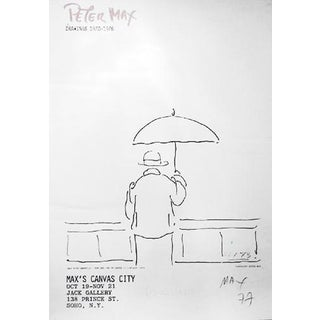 """1981 Peter Max """"Max's Canvas City"""" Poster For Sale"""