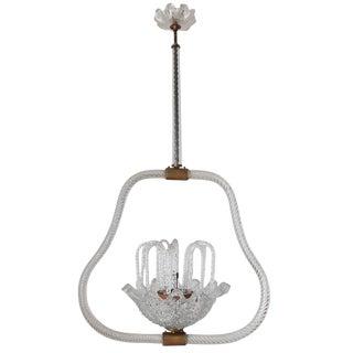 Fountain Murano Glass Pendant by Ercole Barovier For Sale