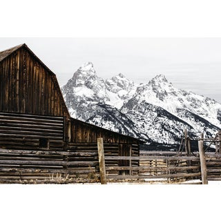 """Barn in the Tetons"" Original Framed Photograph"