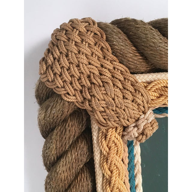Sailor Made Nautical Ropework Mirror For Sale - Image 9 of 12