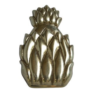 Brass Pineapple Binder Clip For Sale
