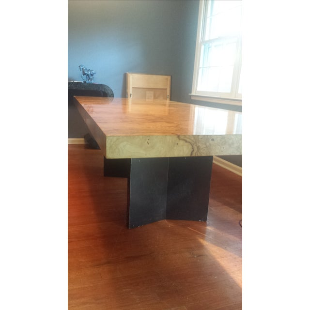 Milo Baughman-Attributed Burl Dining Table - Image 11 of 11