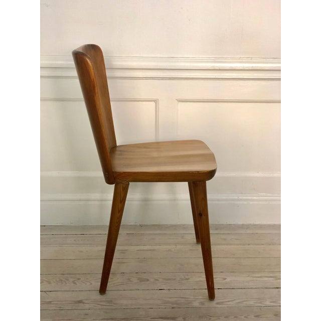 Set of 4 Goran Malmvall Swedish Pine Chairs, Svensk Fur, Sweden, 1940s For Sale In San Francisco - Image 6 of 8