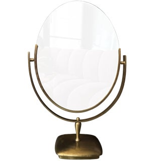 Large Brass Vanity Mirror by Charles Hollis Jones For Sale