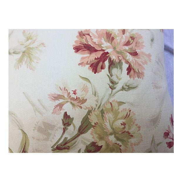 French Faded Floral Pillows - Pair - Image 4 of 5