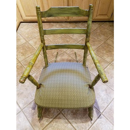 Antique Rocking Chair With Blade Rockers - Image 5 of 5