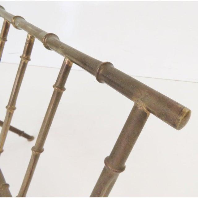 Italian Faux Bamboo Magazine Rack - Image 3 of 3
