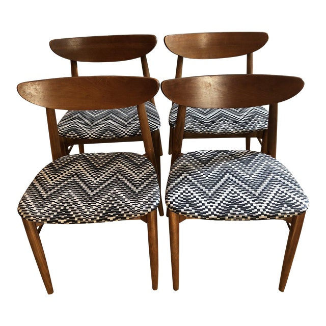 1960's Danish Modern Harry Ostergaard Dining Chairs - Set of 4 For Sale