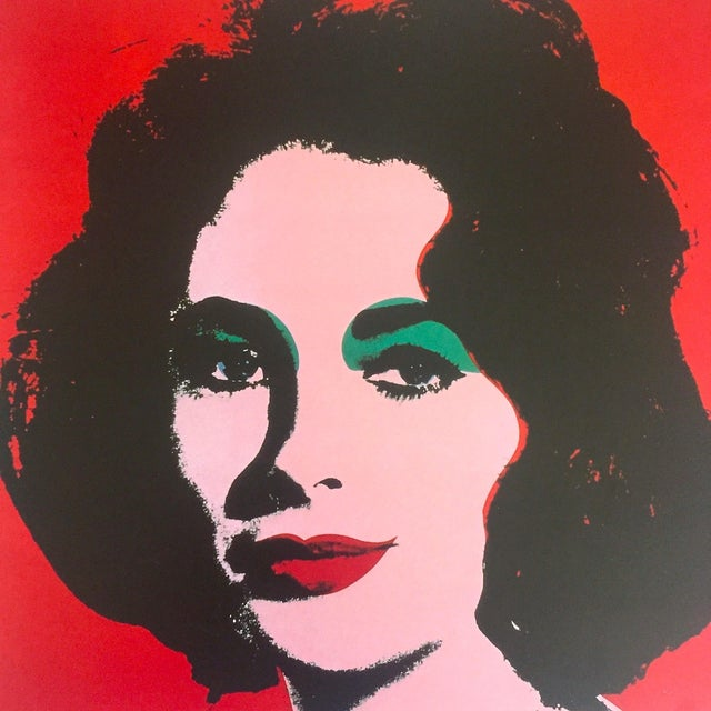 "1980s Andy Warhol Estate Rare 1989 Collector's Lithograph Pop Art Print "" Liz Taylor "" 1964 For Sale - Image 5 of 10"