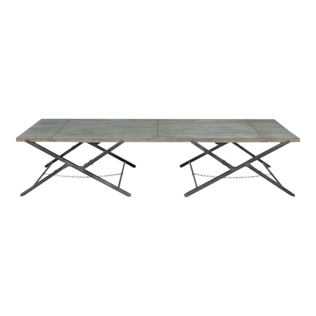 Sarreid Ltd Campaign Low Folding Table - Image 1 of 5