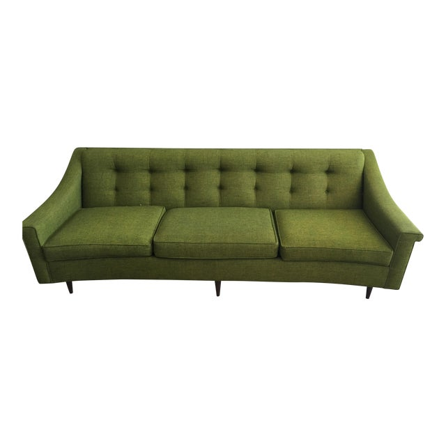 Vintage Lime Green Sofa - Image 1 of 11