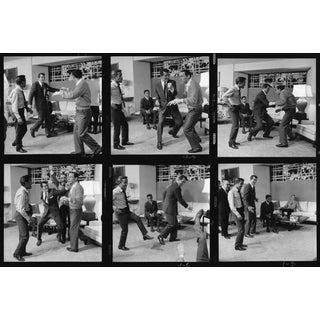 "Sid Avery Frank Sinatra, Dean Martin, Sammy Davis Jr, & Joey Bishop Stage a Fight ""Ocean's Eleven"" 1960 Photo Print"
