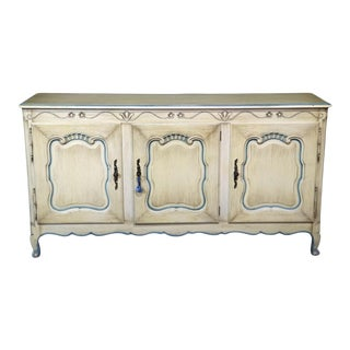 French Louis XV Style Paint Decorated Sideboard For Sale
