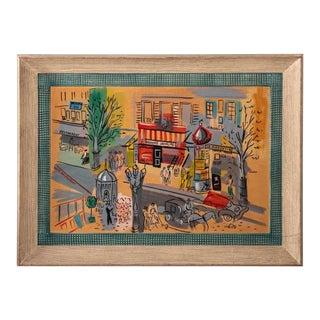 Vintage Paris Cityscape Artwork by Charles Cobelle For Sale