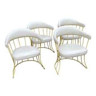 Mid Century Iron & Vinyl Patio Chairs - Set/4 For Sale