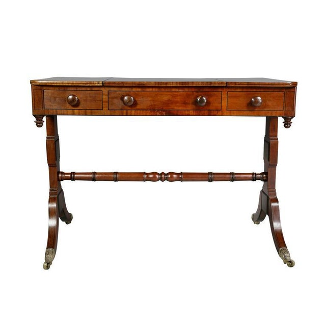 Unusual Regency Mahogany Games Table For Sale - Image 9 of 10