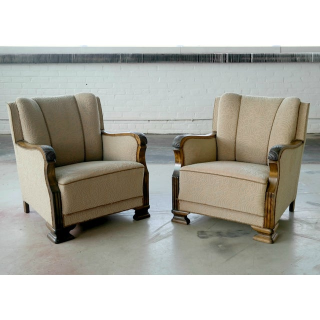 Danish 1940's Club Chairs - A Pair - Image 2 of 8