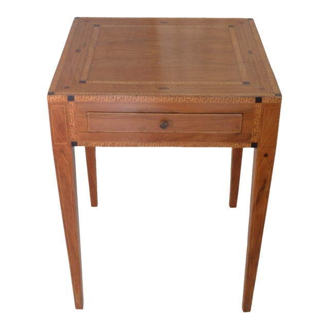 19th Century Continental Inlay Side Table For Sale