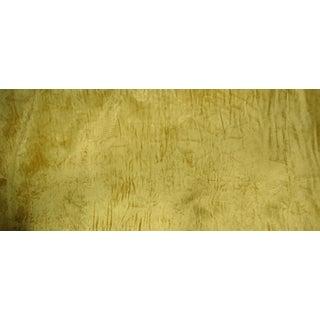 Vintage Crushed Gold Velvet Upholstery Fabric - 1 Yard For Sale