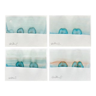 """Snow Drifts"" Watercolor Paintings - Set of 4"