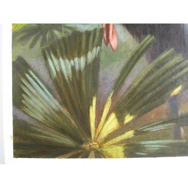 "Ute Simon ""Cassowary"" Jungle Bird Painting - Image 5 of 6"