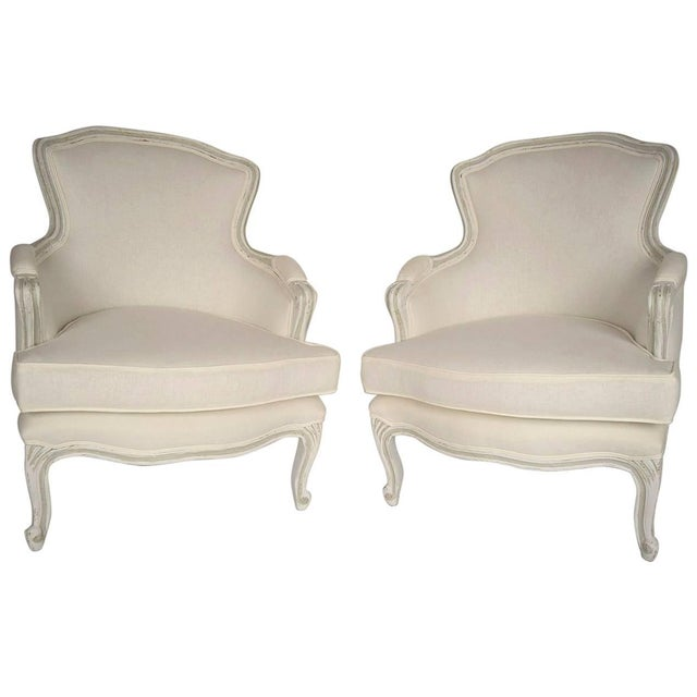 French Louis XV Style Bergeres - Pair - Image 1 of 5