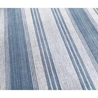 Ralph Lauren Salt River Stripe Blue Skies Fabric For Sale