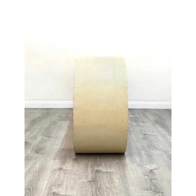 Campaign Mid Century Cream Raffia Console/Sofa Table For Sale - Image 3 of 11