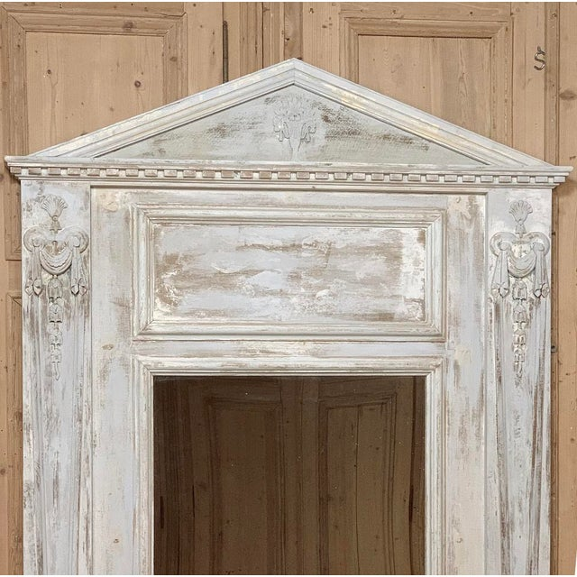White 19th Century French Classical Trumeau For Sale - Image 8 of 12