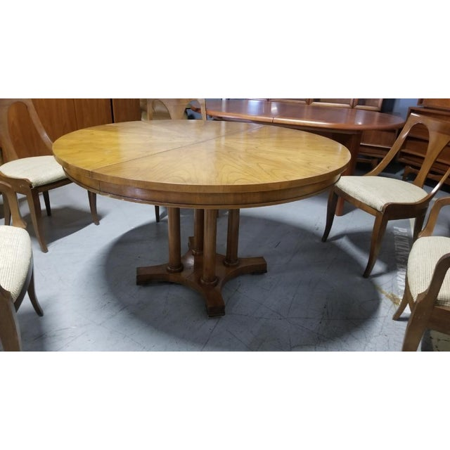 1990s 1950's Baker Furniture Palladian Collection Dining Furniture-Set of 7 For Sale - Image 5 of 10